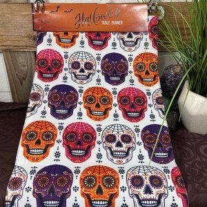 Halloween Sugar Skull Table Runner